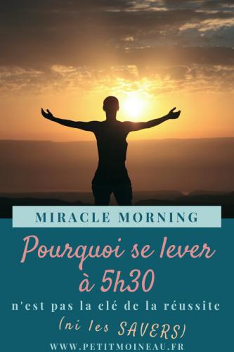miracle morning routine habitude matin se lever réveil