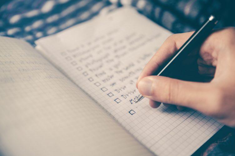 planifier année 2019 to-do list géniale noter écrire faire le bilan