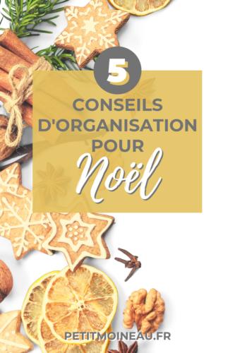 5 conseils pour bien s'organiser pour Noël repas cadeau