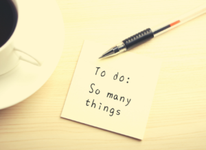 to-do list liste à faire tellement de choses