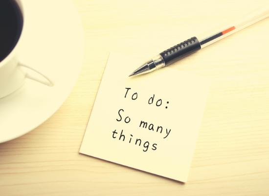 to-do list liste à faire tellement de choses