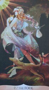carte fou tarot manga traditional