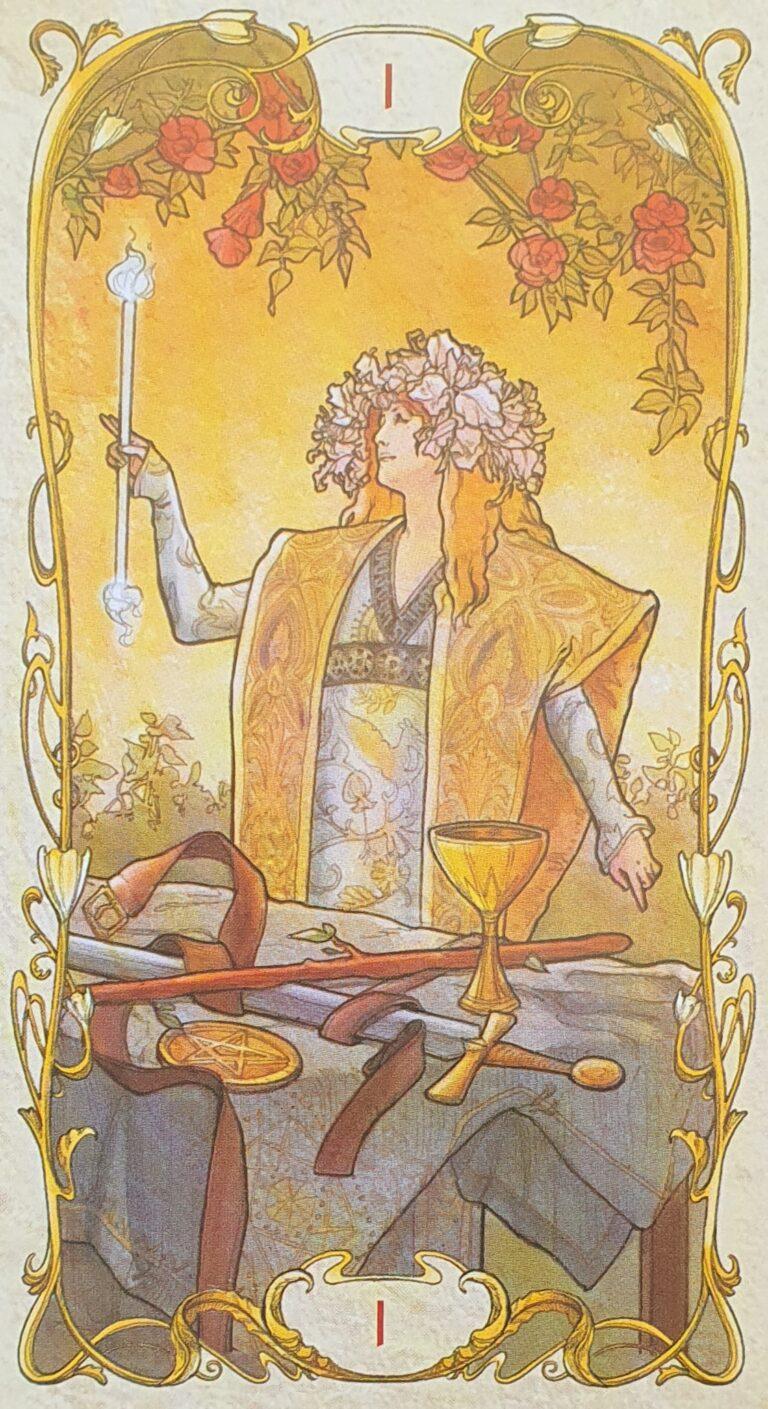 tarot carte magicien mucha