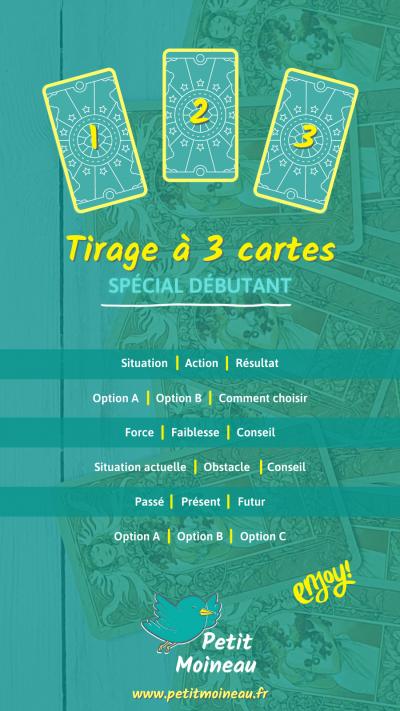 Se tirer les cartes tarot spread layout tirage 3 cartes