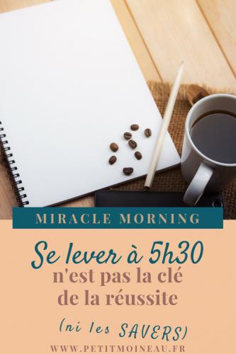 miracle morning habitude réveil savers obligation obligée