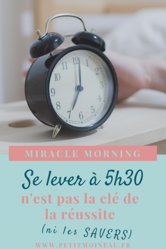 miuracle morning habitude réveil difficile 5h réussite tôt